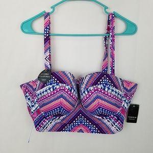 TORRID Push-Up Vixen Chevron Bikini Top